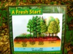 "Photo of ""A Fresh Start"" trail signage at Hemlock Bluffs, Cary, NC"