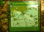 "Photo of ""It All Flows Together"" trail signage at Hemlock Bluffs, Cary, NC"
